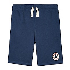Converse - Boy's navy 'Chuck Taylor' sweat shorts