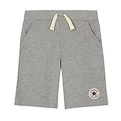 Converse - Boys' grey logo applique shorts