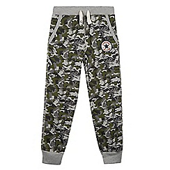Converse - Boys' khaki camouflage jogging bottoms