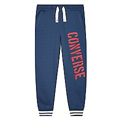 Converse - Boy's navy branded slim jogging bottoms