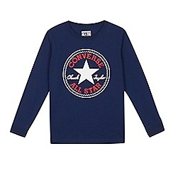 Converse - Boys' navy logo top
