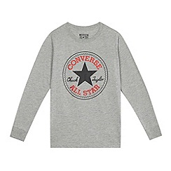 Converse - Boys' grey logo top