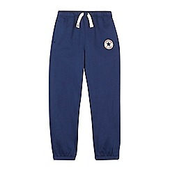 Converse - Boys' navy logo jogging bottoms