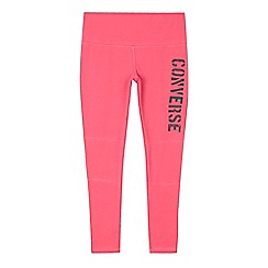 Converse - Girls' pink logo leggings