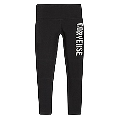 Converse - Girls' black logo leggings