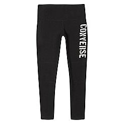 Converse - Girls' black logo leggings