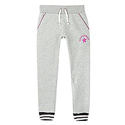 Converse - Girls' grey logo jogging bottoms