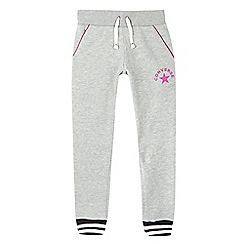 Converse - Girls' grey logo jogging bottoms