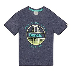 Bench - Boys' navy textured logo t-shirt