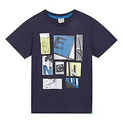 Bench - Boys' navy logo print t-shirt