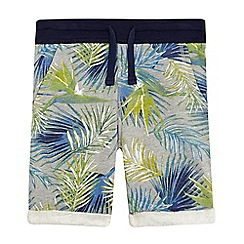 bluezoo - Boys' grey tropical leaf print shorts