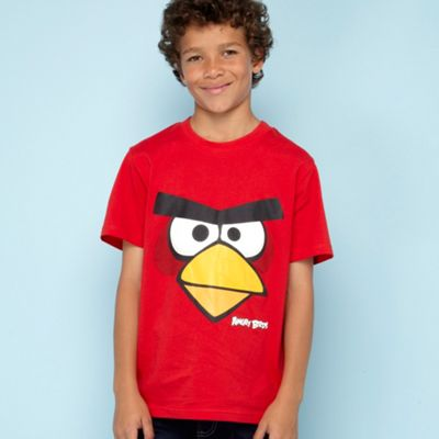 Boys red Angry Birds t-shirt