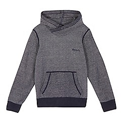 Bench - Boys' navy textured hoodie