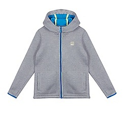 Bench - Boys' grey knitted zip through hoodie