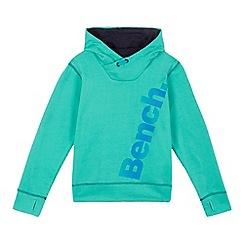 Bench - Boys' green logo print hoodie