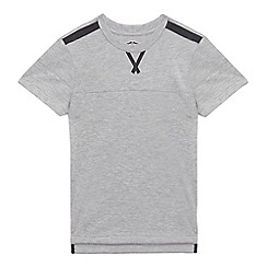 bluezoo - Boys' grey textured t-shirt