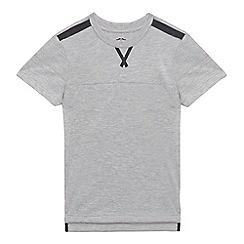 bluezoo - Boys' grey textured t-shirt
