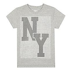 bluezoo - Boys' grey 'NY' t-shirt