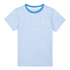 bluezoo - Boys' blue striped print t-shirt