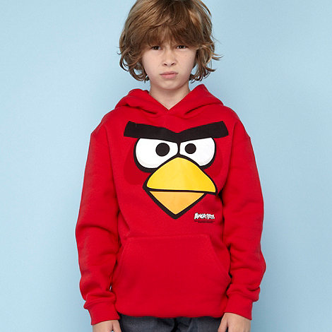 null - Boy+s red +Angry Birds+ hoodie