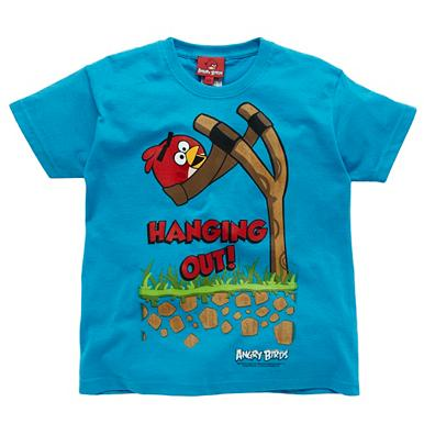 Boy's blue 'Hanging out' 'Angry Birds' t-shirt