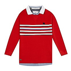J by Jasper Conran - Boys' red stripe mockable shirt