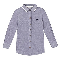 J by Jasper Conran - Boys' navy textured shirt