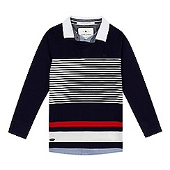 J by Jasper Conran - Boys' striped mockable top
