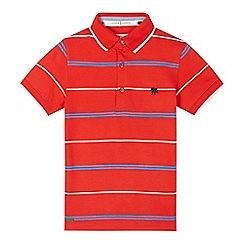 J by Jasper Conran - Boys' red striped polo shirt