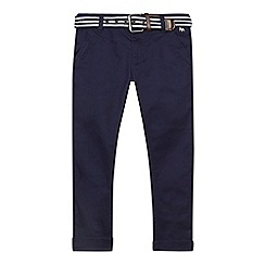 J by Jasper Conran - Boys' navy slim fit chinos with belt