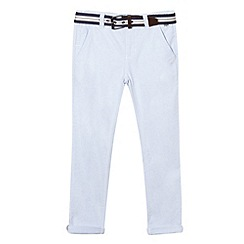 J by Jasper Conran - Boys' light blue belted Oxford trousers