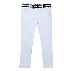 J by Jasper Conran - Boys' light blue belted Oxford trousers