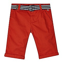 J by Jasper Conran - Boys' dark orange belted chino shorts