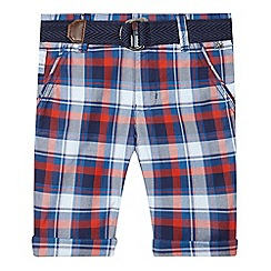 J by Jasper Conran - Boys' orange checked shorts