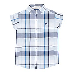 J by Jasper Conran - Boys' white and blue checked shirt