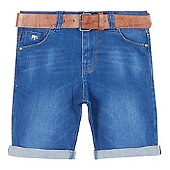 J by Jasper Conran - Boys' blue belted denim shorts