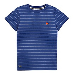 J by Jasper Conran - Boys' blue birdseye striped t-shirt