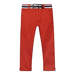 J by Jasper Conran - Boys' orange belted slim chinos