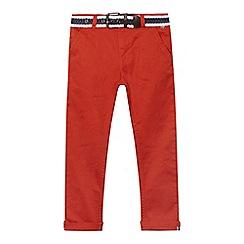 J by Jasper Conran - Boys' orange belted slim chinos