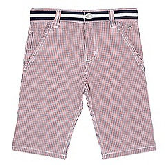 J by Jasper Conran - Boys' red checked shorts