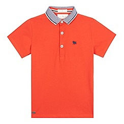 J by Jasper Conran - Boys' dark orange polo shirt