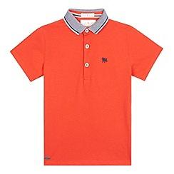 J by Jasper Conran - Boys' dark orange polo shirt