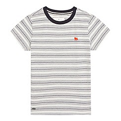J by Jasper Conran - Boys' white jacquard t-shirt