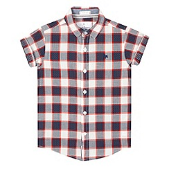 J by Jasper Conran - Boys' red gingham checked print shirt