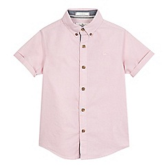 J by Jasper Conran - Boys' pink Oxford shirt
