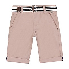 J by Jasper Conran - Boys' pink belted chino shorts
