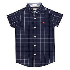 J by Jasper Conran - Boys' navy grid check print shirt