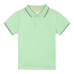 bluezoo - Boys' light green stripe trim polo shirt