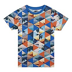 bluezoo - Boys' multi-coloured geometric print t-shirt