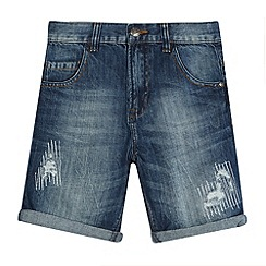 bluezoo - Boys' distressed denim shorts